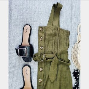 🆕️//The Sophie// Olive green jumpsuit